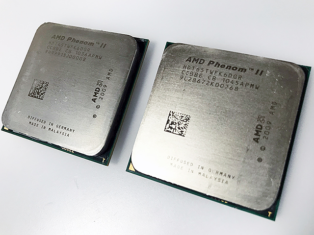 「AMD Phenom II X6 1045T」「AMD Phenom II X6 1065T」